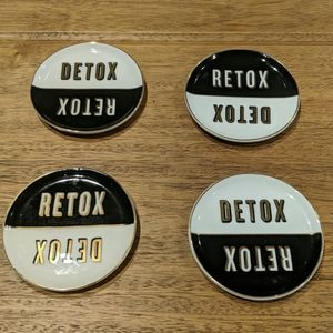 Jonathan Adler ceramic coasters